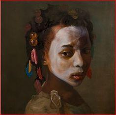 black child white face
